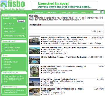 Fisbo website