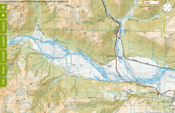 NZ Topo Map website