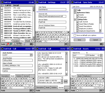 TaskTrak PDA application