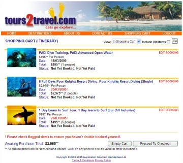 tours2travel website